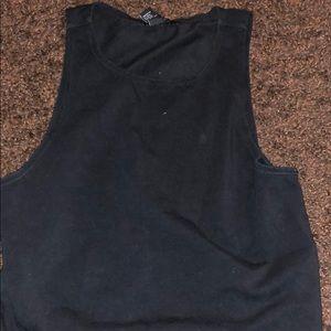Black tank top crop top good condition